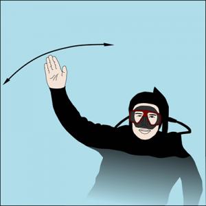 senales de buceo - emergencia ayuda