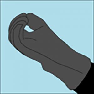 senales de buceo - ok todo bien guantes