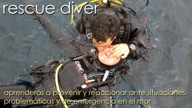 Buceo de rescate Rescue Diver Isub San Jose