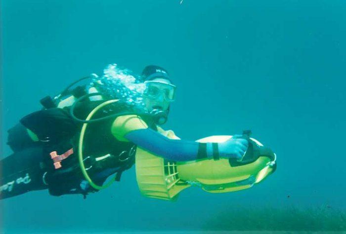 Buceo motorizado Mero Diving