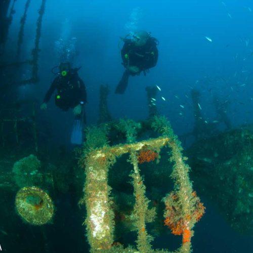Buceo profundo en pecios Scuba Ibiza