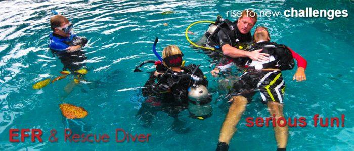 Curso EFR + Rescue Diver