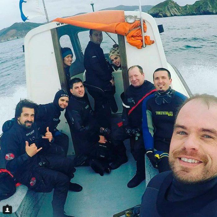 Inmersiones en barco Mergullo Viveiro
