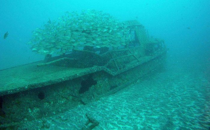 Pecio barco hundido en Los Gemelos Ocean Dreams Tenerife