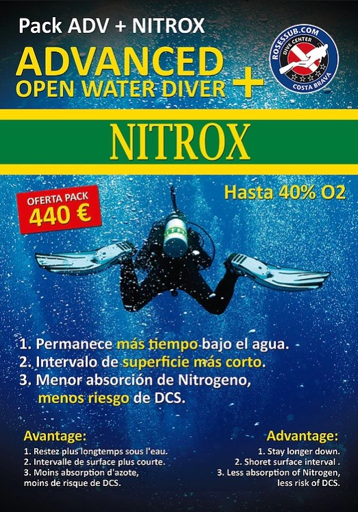 Roses oferta Advanced + Nitrox